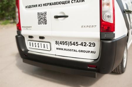 Peugeot Expert 2007- Защита заднего бампера d80х40 (профиль ЧМ) PEXZ-002121